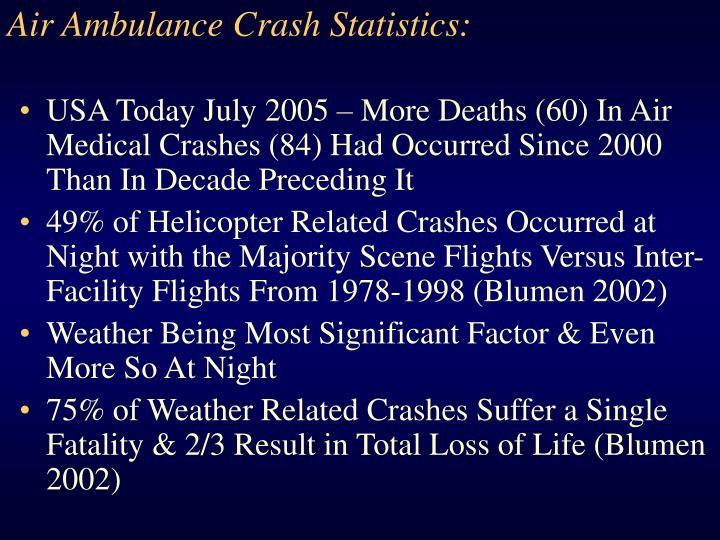 Air Ambulance Crash Statistics: