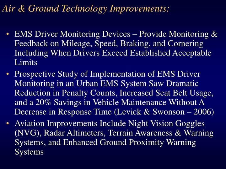 Air & Ground Technology Improvements: