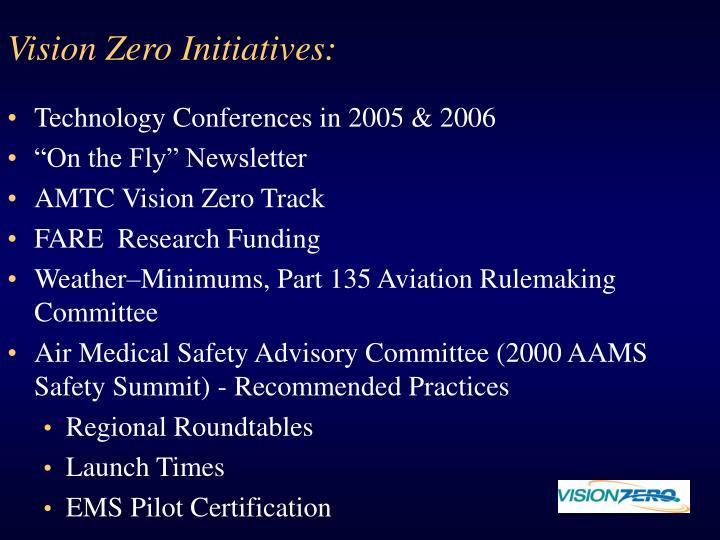 Vision Zero Initiatives: