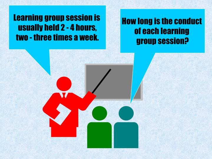 Learning group session is