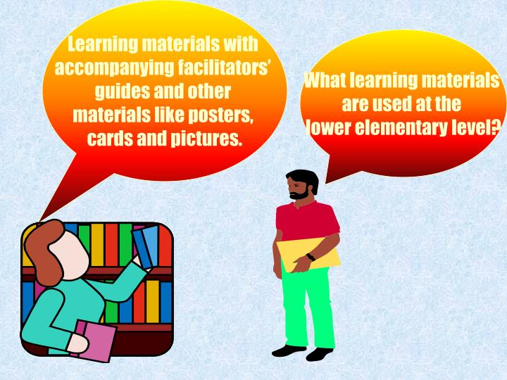 Learning materials with