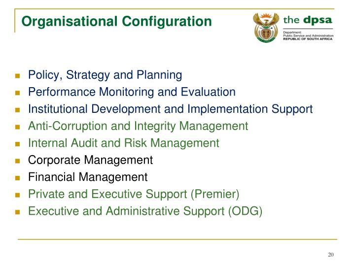 Organisational Configuration