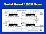 serial board mcm scan