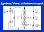 system view of interconnect