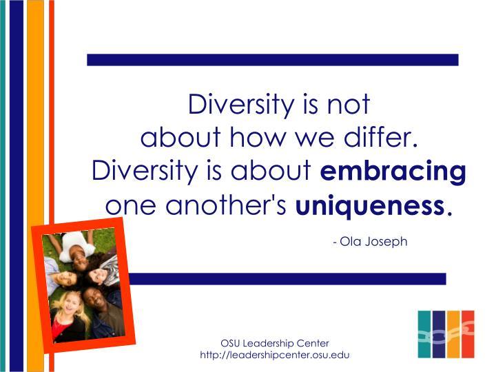 Diversity is not