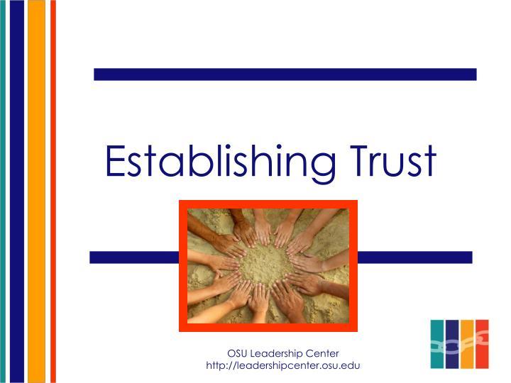 Establishing Trust