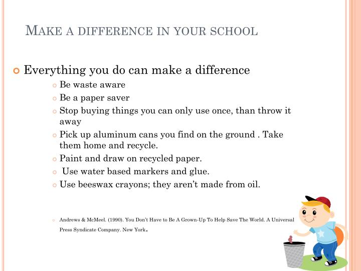 Make a difference in your school