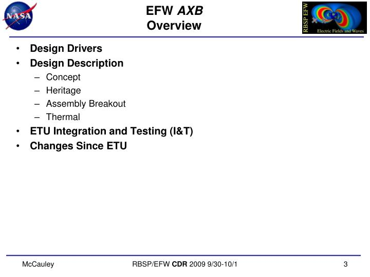 Efw axb overview
