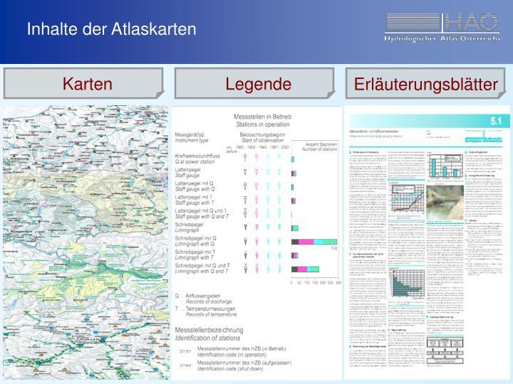 Inhalte der Atlaskarten