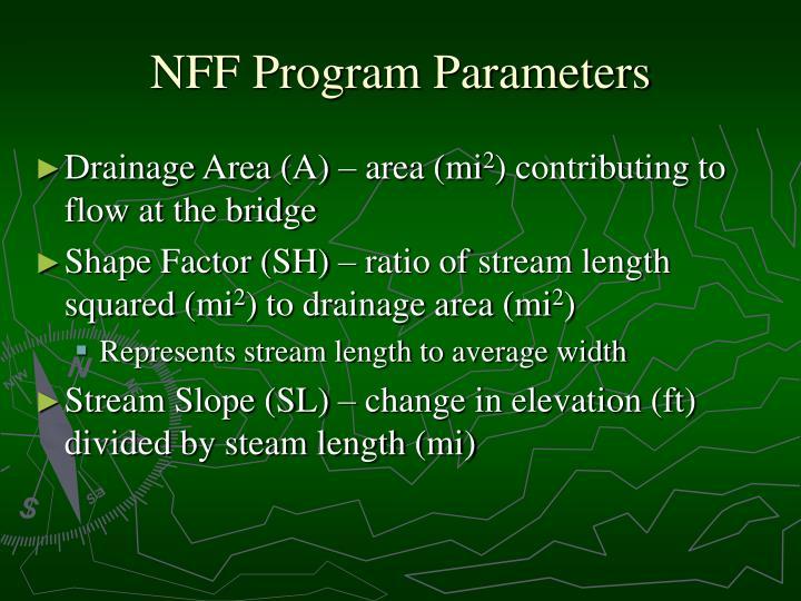 NFF Program Parameters