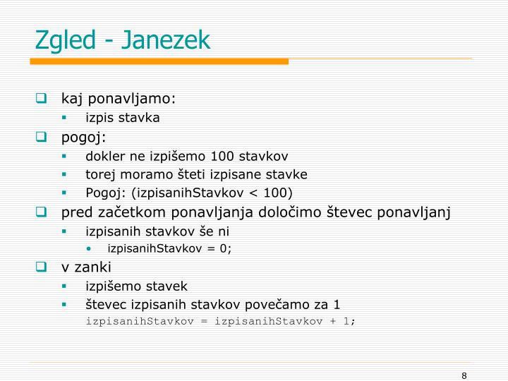 Zgled - Janezek