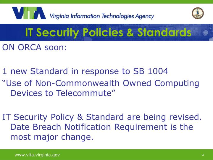 IT Security Policies & Standards