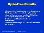cycle free circuits