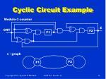 cyclic circuit example