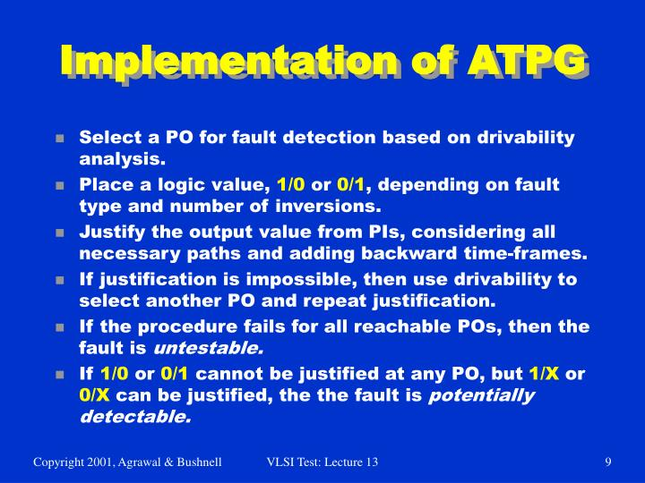 Implementation of ATPG