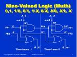 nine valued logic muth 0 1 1 0 0 1 1 x 0 x x 0 x 1 x