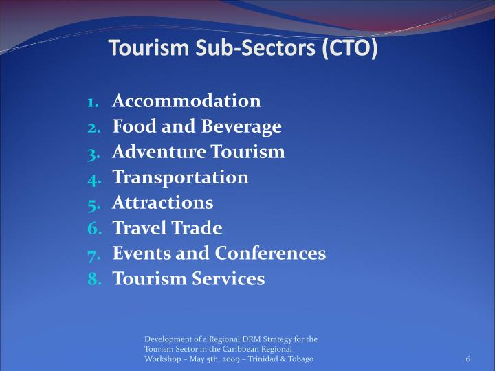 Tourism Sub-Sectors (CTO)