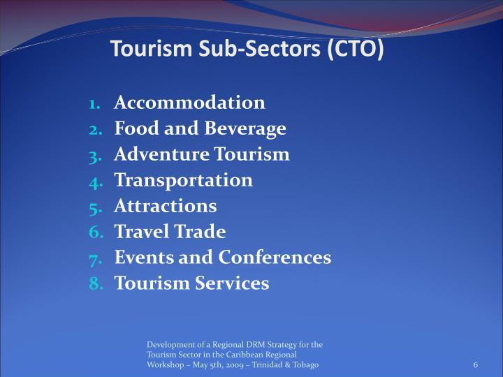 Tourism Sub-Sectors (CTO)
