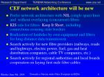 cef network architecture will be new
