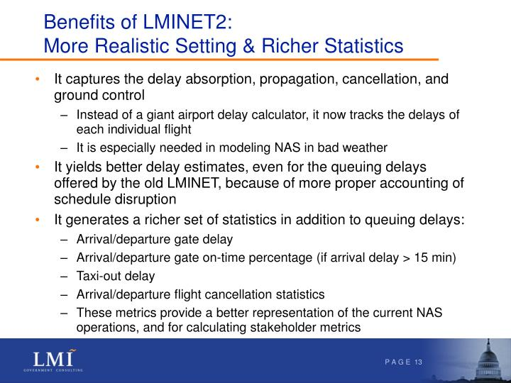 Benefits of LMINET2: