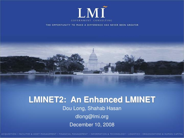 Lminet2 an enhanced lminet