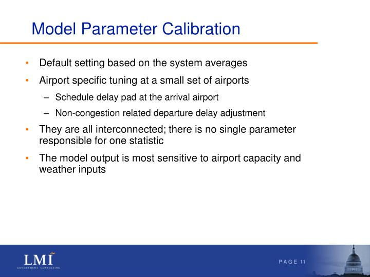 Model Parameter Calibration