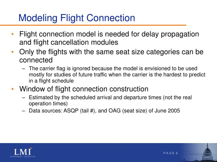 Modeling Flight Connection