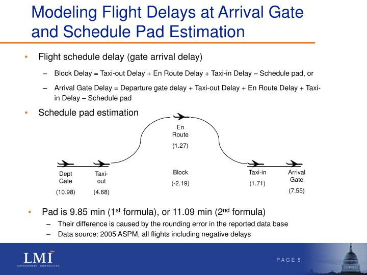 Modeling Flight Delays at Arrival Gate