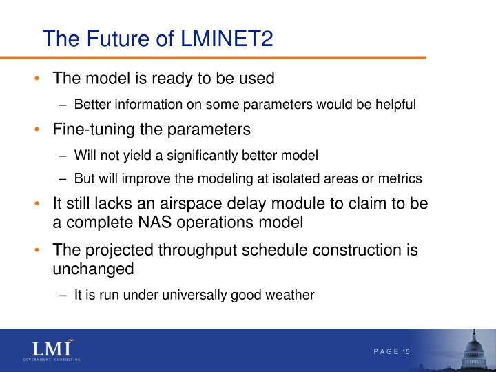 The Future of LMINET2