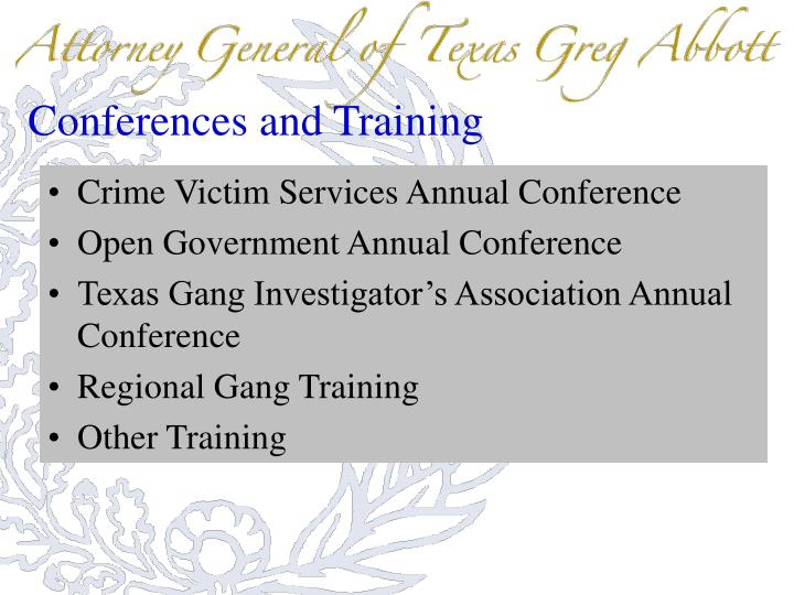 Conferences and Training
