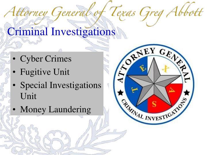 Criminal Investigations