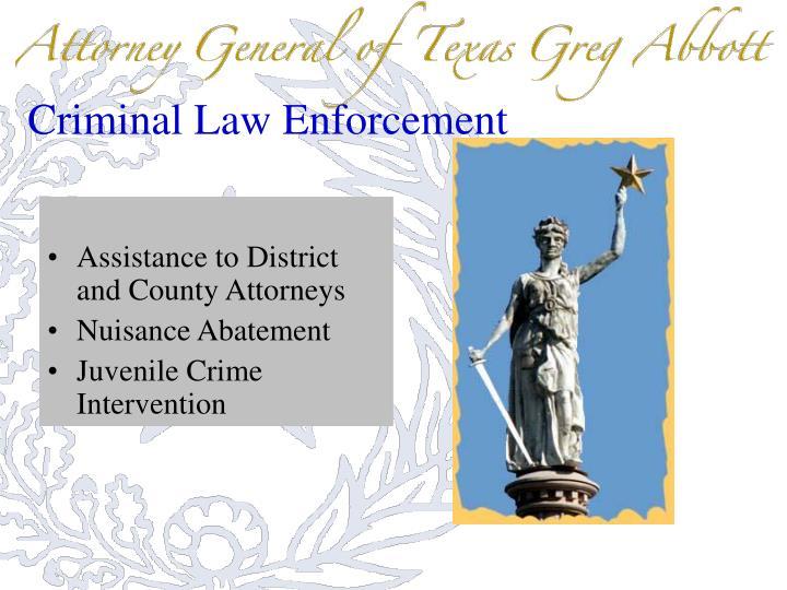 Criminal Law Enforcement
