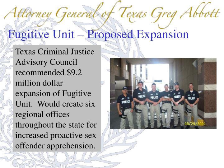 Fugitive Unit – Proposed Expansion