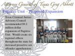 fugitive unit proposed expansion