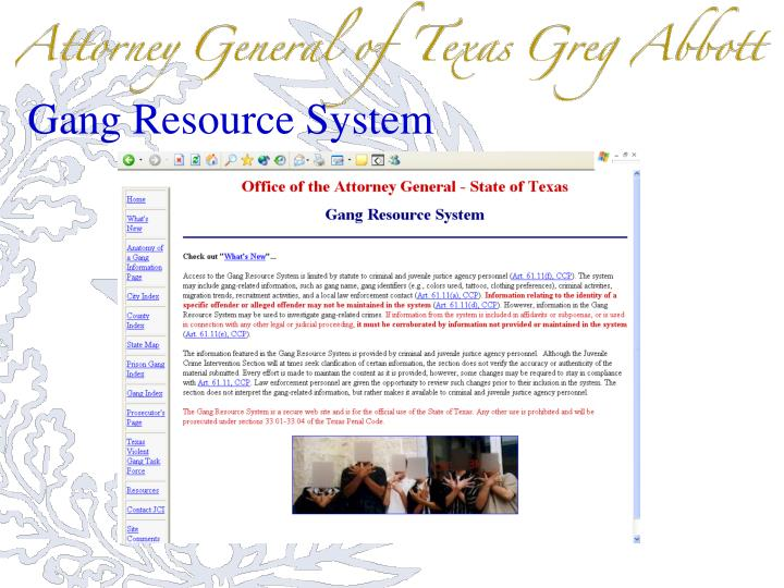 Gang Resource System