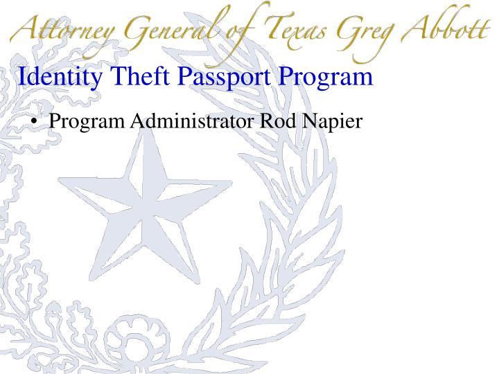 Identity Theft Passport Program