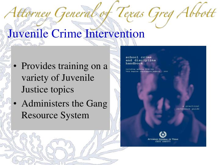 Juvenile Crime Intervention