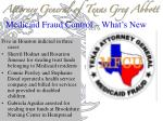 medicaid fraud control what s new