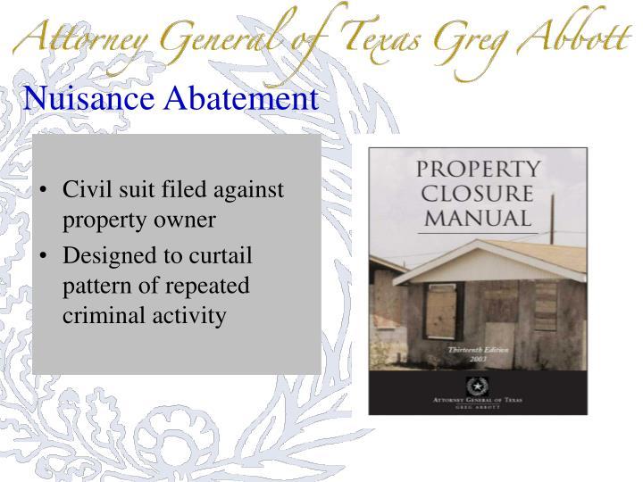 Nuisance Abatement