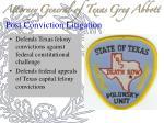 post conviction litigation