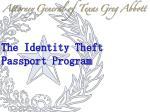 the identity theft passport program