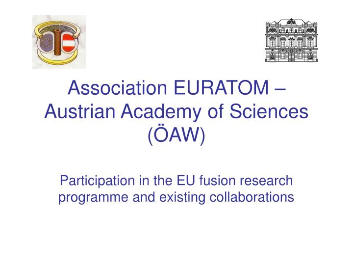 Association euratom austrian academy of sciences aw