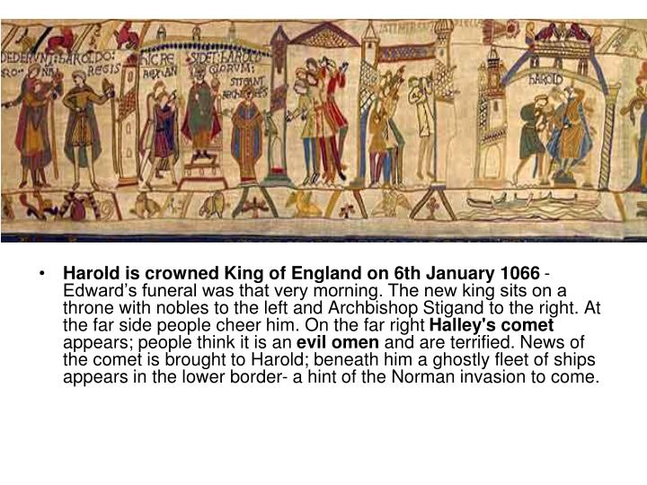Harold is crowned King of England on 6th January 1066