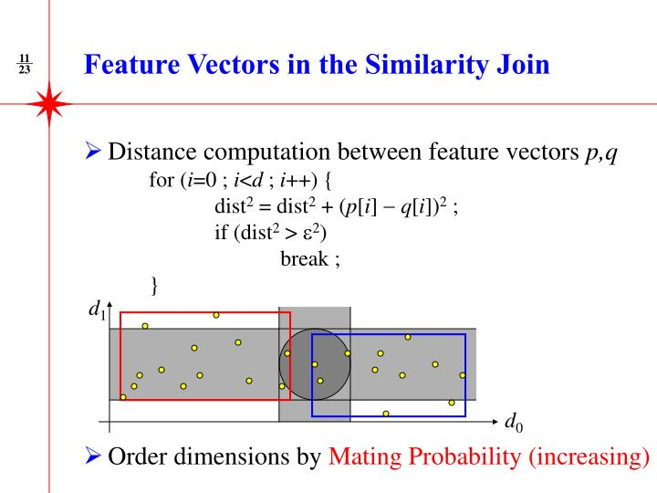 Feature Vectors in the Similarity Join