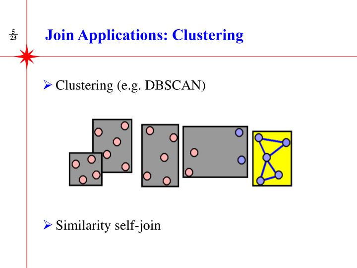 Join Applications: Clustering