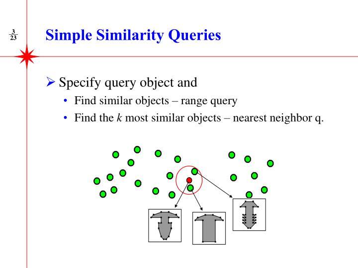 Simple Similarity Queries