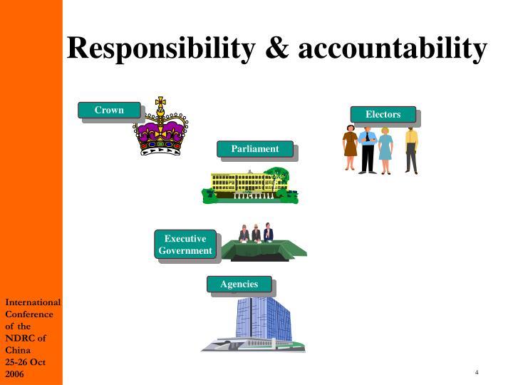 Responsibility & accountability