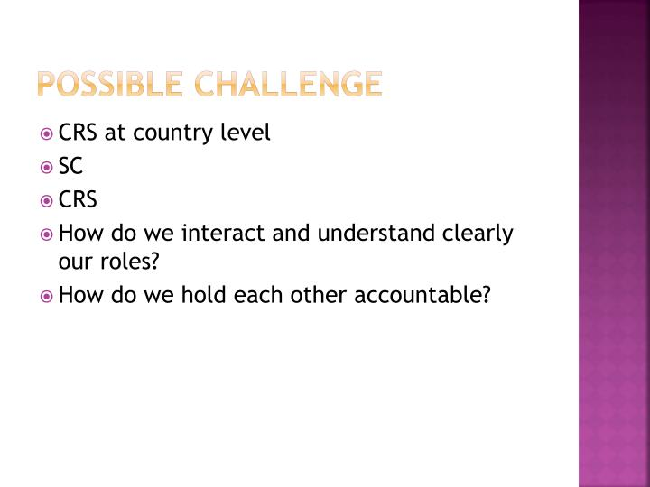 Possible challenge