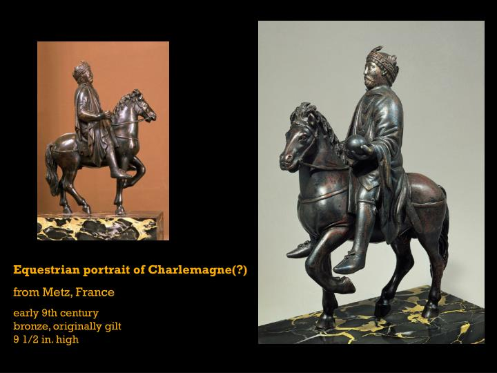Equestrian portrait of Charlemagne(?)