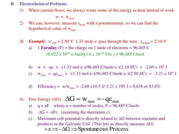 Electrochemical Problems
